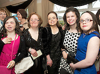 Louise McNiff Salthill,Therese Feeney  Castlegar, Aoife King, Salthill, Deirdre McGinley, Salthill, Aine Lynch, Renmore and Louise McNiff Salthill, at the Ability West Best Buddy Ball and award night at the Menlo Park Hotel Galway. Photo:Andrew Downes.