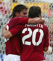 Roma 31/10/2004 CAMPIONATO ITALIANO SERIE A <br /> <br /> Roma Cagliari 5-1 Alberto Aquilani and simone Perrotta celebrate goal of 3-1 for AS Roma scored by simone Perrotta.<br /> <br /> Alberto Aquilani e simone Perrotta festeggiano il gol del 3-1 per la Roma segnato da Perrotta<br /> <br /> Foto Andrea Staccioli Graffiti