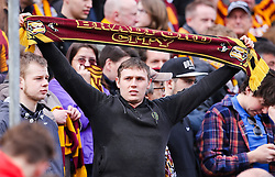 Bradford fans hold up scarves before kick off - Photo mandatory by-line: Matt McNulty/JMP - Mobile: 07966 386802 - 07/03/2015 - SPORT - Football - Bradford - Valley Parade - Bradford City v Reading - FA Cup - Quarter Final