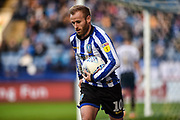 Sheffield Wednesday vice captain Barry Bannan carries the ball for a corner during the EFL Sky Bet Championship match between Sheffield Wednesday and Bristol City at Hillsborough, Sheffield, England on 22 December 2019.