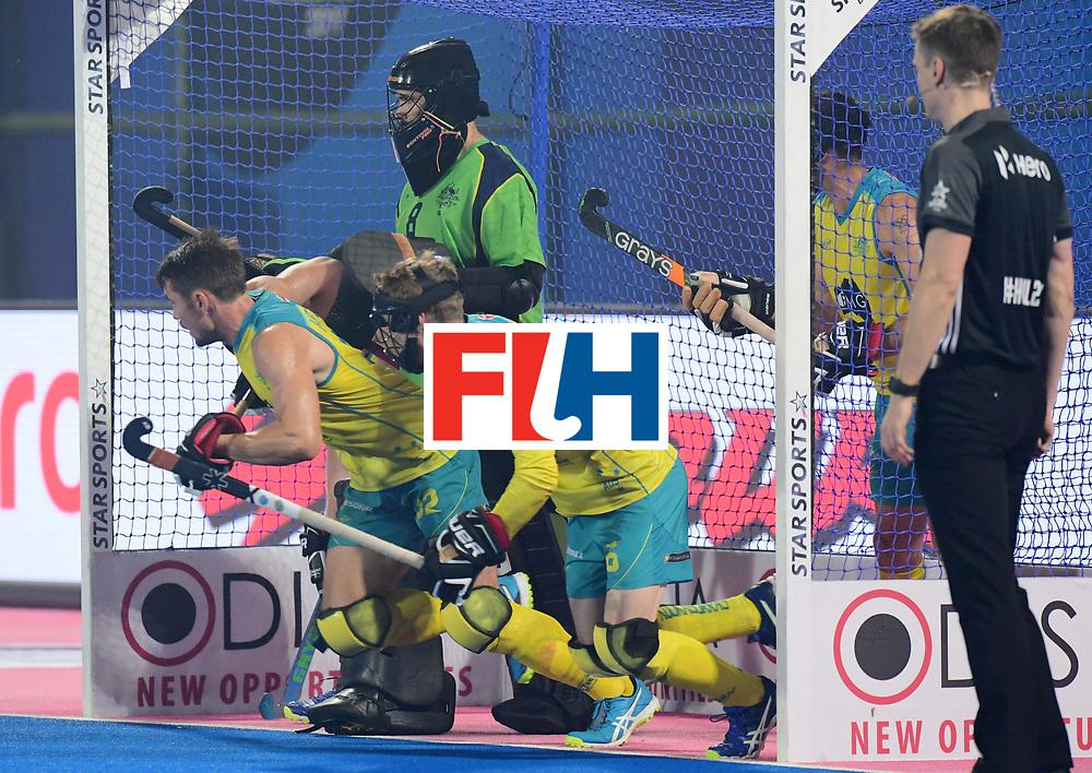 Odisha Men's Hockey World League Final Bhubaneswar 2017<br /> Match id:09<br /> Australia v England<br /> Foto: Penalty corner<br /> WORLDSPORTPICS COPYRIGHT FRANK UIJLENBROEK