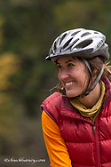 Rachel Stevens bike touring in the Kootenai National Forest, Montana, USA model released