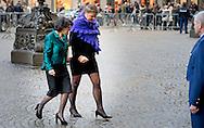 12-1-2016 AMSTERDAM Khadija Arib Koning Willem-Alexander en Koningin Maxima houden dinsdag 12 januari 2016 de traditionele Nieuwjaarsontvangst voor Nederlandse genodigden in het paleis op de dam . prinses beatrix  prinses Margriet . COPYRIGHT ROBIN UTRECHT<br /> AMSTERDAM 12-1-2016 King Willem-Alexander and Queen Maxima arrive Tuesday, January 12th, 2016 for the traditional New Year Reception for Dutch guests in the palace on the dam. princess beatrix Princess Margriet . COPYRIGHT ROBIN UTRECHT