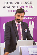 Shamoon Hashmi (Joint Secretary of the National Assembly, Pakistan) Session 8: RECOMMENDATIONS TO PROTECT WOMEN'S RIGHT TO PARTICIPATE IN POLITICS FREE FROM VIOLENCE 'Violence Against Women in Politics' Conference, organised by all the UK political parties in partnership with the Westminster Foundation for Democracy, 19th and 20th of March 2018, central London, UK.  (Please credit any image use with: © Andy Aitchison / WFD
