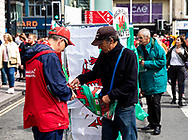 A street vendor selling flags<br /> <br /> Photographer Simon King/Replay Images<br /> <br /> Friendly - Wales v Ireland - Saturday 31st August 2019 - Principality Stadium - Cardiff<br /> <br /> World Copyright © Replay Images . All rights reserved. info@replayimages.co.uk - http://replayimages.co.uk