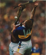 Tipperary's Deaclan Ryan and Galways Michael Healy in the 2001 All-Ireland final.