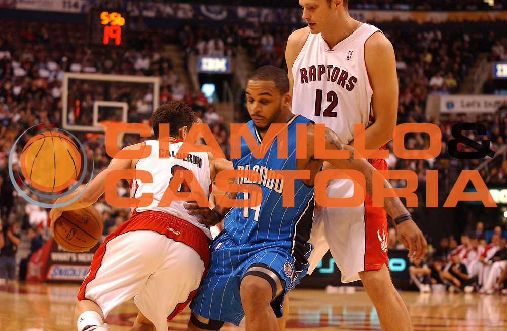 DESCRIZIONE : Toronto NBA 2009-2010 Toronto Raptors Orlando Magic<br /> GIOCATORE : Jose Calderon<br /> SQUADRA : Toronto Raptors<br /> EVENTO : Campionato NBA 2008-2009 <br /> GARA : Toronto Raptors  Orlando Magic<br /> DATA : 01/11/2009<br /> CATEGORIA :<br /> SPORT : Pallacanestro <br /> AUTORE : Agenzia Ciamillo-Castoria/V.Keslassy<br /> Galleria : NBA 2009-2010<br /> Fotonotizia : Toronto NBA 2009-2010 Toronto Raptors  Orlando Magic<br /> Predefinita :