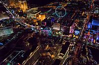 Caesar's Palace Hotel (foreground) & Las Vegas Boulevard