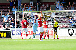 Coventry City's Billy Daniels celebrates his goal. - Photo mandatory by-line: Dougie Allward/JMP - Tel: Mobile: 07966 386802 11/08/2013 - SPORT - FOOTBALL - Sixfields Stadium - Sixfields Stadium -  Coventry V Bristol City - Sky Bet League One
