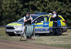 FILE PICTURE © Licensed to London News Pictures. 12/08/2016. London, UK. Police are seen in Hyde Park after the body of Jairo Medina, a professional carer from Chelsea was found. The trial  of Hani Khalaf, who is charged with his murder, begins today at the Old Bailey. Photo credit: Peter Macdiarmid/LNP