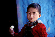 Portrait of a little boy from remote Lahaul valley,Himachal Pradesh,India.