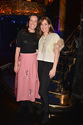 Left to right, Brita Fernandez Schmidt and Darcey Bussell at the SheInspiresMe Dance in aid of Women for Women International held at the Café de Paris, 3 Coventry Street, London England. 25 January 2017.