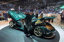 Koennigsegg Regera at 87th Geneva International Motor Show in Geneva Switzerland 2017