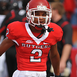 Sep 7, 2009; Piscataway, NJ, USA; Rutgers wide receiver Tim Brown (2) during warmups prior to Rutgers' game against Cincinnati in NCAA college football at Rutgers Stadium.