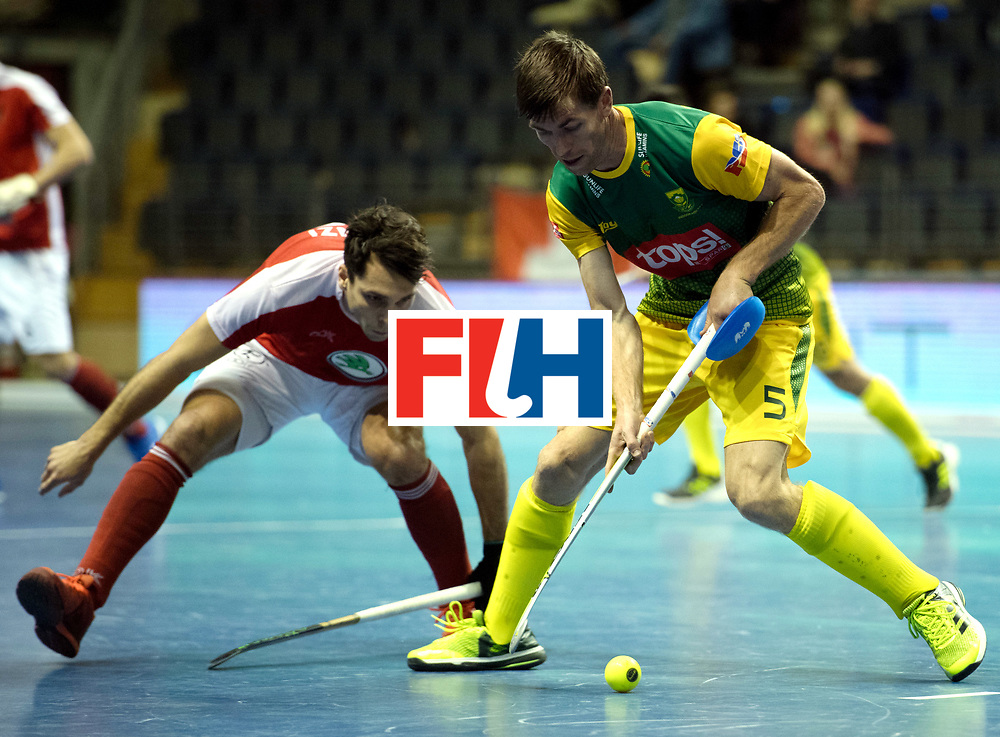 BERLIN - Indoor Hockey World Cup<br /> Austria - South Africa<br /> foto: DOMLEO Justin<br /> WORLDSPORTPICS COPYRIGHT FRANK UIJLENBROEK