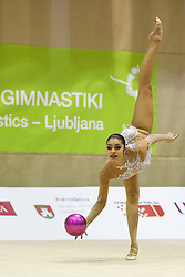 Yulia Sinitsyna of Russia competes during 28th MTM - International tournament in rhythmic gymnastics Ljubljana, on April 4, 2015 in Arena Krim, Ljubljana, Slovenia. Photo by Matic Klansek Velej / Sportida