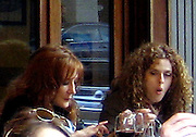 Bernadette Peters eating at Da Silvano Restaurant.West Village.New York, NY, USA .Sunday, April, 29, 2007.Photo By Celebrityvibe.To license this image call (212) 410 5354 or;.Email: celebrityvibe@gmail.com; .