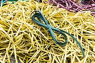 Detail of plastic straps, Minh Khai village, Hung Yen Province, Vietnam, Southeast Asia