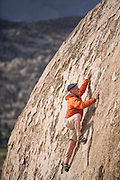 Veteran climber, guide and writer Doug Robinson (age 71) boulders in his beloved Buttermilks.