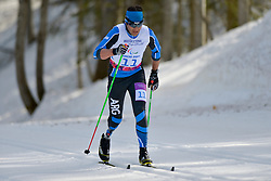 ROBLEDO Pablo Javier competing in the Nordic Skiing XC Long Distance at the 2014 Sochi Winter Paralympic Games, Russia