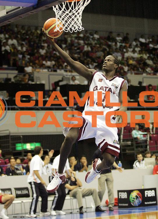 DESCRIZIONE : Hamamatsu Giappone Japan Men World Championship 2006 Campionati Mondiali Qatar-Turkey <br /> GIOCATORE : Daoud<br /> SQUADRA : Qatar<br /> EVENTO : Hamamatsu Giappone Japan Men World Championship 2006 Campionato Mondiale Qatar-Turkey <br /> GARA : Qatar Turkey Qatar Turchia<br /> DATA : 23/08/2006 <br /> CATEGORIA : Tiro<br /> SPORT : Pallacanestro <br /> AUTORE : Agenzia Ciamillo-Castoria/A.Vlachos<br /> Galleria : Japan World Championship 2006<br /> Fotonotizia : Hamamatsu Giappone Japan Men World Championship 2006 Campionati Mondiali Qatar-Turkey <br /> Predefinita :