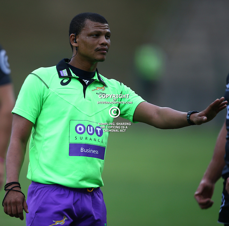 DURBAN, SOUTH AFRICA - APRIL 23: Referee Rodney Bonaparte during the Provincial Cup match between Cell C Sharks XV and Windhoek Draught Welwitschias at King Zwelithini Stadium on April 23, 2016 in Durban, South Africa. (Photo by Steve Haag/Gallo Images)
