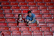 Fans of Sheffield United pose for a selfie during the EFL Cup match between Sheffield United and Blackburn Rovers at Bramall Lane, Sheffield, England on 27 August 2019.