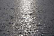 Calm water, low autumn sunlight