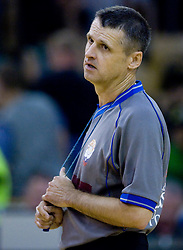 Referee Andrej Jersan at third finals basketball match of Slovenian Men UPC League between KK Union Olimpija and KK Helios Domzale, on June 2, 2009, in Arena Tivoli, Ljubljana, Slovenia. Union Olimpija won 69:58 and became Slovenian National Champion for the season 2008/2009. (Photo by Vid Ponikvar / Sportida)