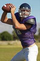 Quarterback Ready to Throw Ball