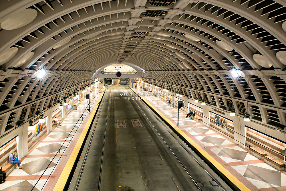 Public transportation at Pioneer Station in Seattle, Washington, USA