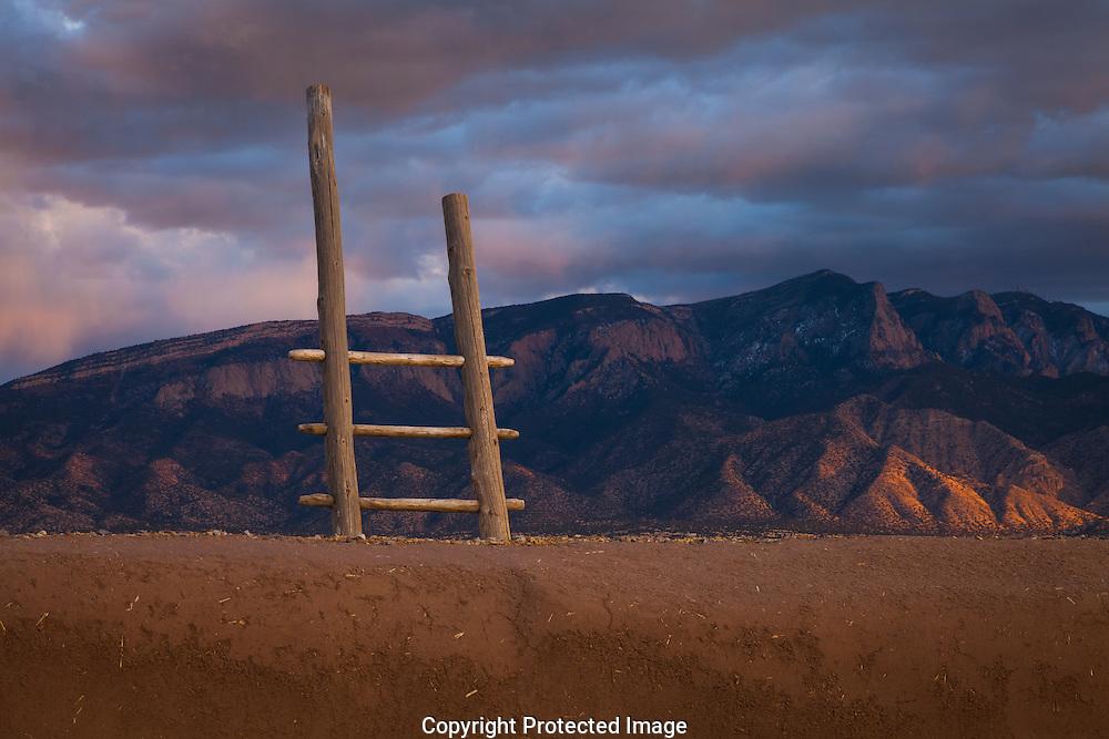 Kiva ladder, Sandia Mountain, Coronado State Monument, NM