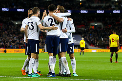 Harry Kane of Tottenham Hotspur celebrates with teammates after scoring a goal to make it 2-0 - Mandatory by-line: Robbie Stephenson/JMP - 30/04/2018 - FOOTBALL - Wembley Stadium - London, England - Tottenham Hotspur v Watford - Premier League