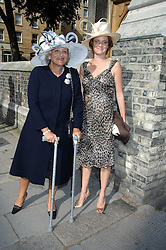 Left to right, DAME VIVIEN DUFFIELD and her daughter ARABELLA RUDLAND at the wedding of Chloe Delevingne to Louis Buckworth at St.Paul's Knightsbridge, London on 7th September 2007.<br /><br />NON EXCLUSIVE - WORLD RIGHTS