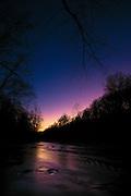 Dusk on the Patapsco River at Oella, Maryland.