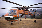 USA, California, Sikorsky Skycrane, Fire Helicopter, Sequoia and Kings Canyon National Park