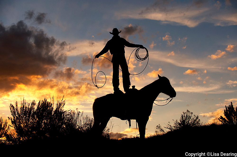Sombrero Cowboy Doing Rope Tricks