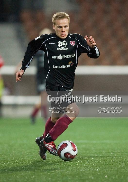 Mikko Hauhia. FC Lahti - Inter, liigacupin finaali, Finnair Stadium, Helsinki 13.4.2007. Photo: Jussi Eskola
