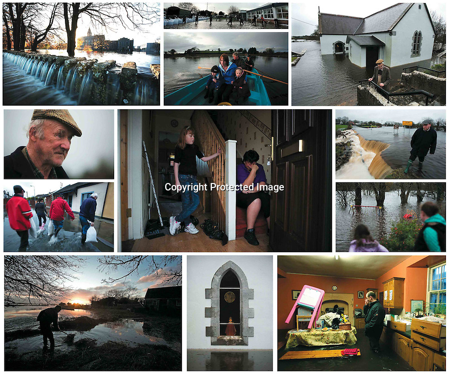 Scenes from the unprecedented flooding that devastated the Ireland in 2009.