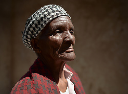 Nov. 21, 2014 - Mthatha, Eastern Cape, South Africa - A portrait of the 77 year-old Beauty Sodo from Mandela's homeland of Mthatha. Mthatha, Eastern Cape, South Africa. (Picture by: Artur Widak/NurPhoto) (Credit Image: © Artur Widak/NurPhoto/ZUMA Wire)