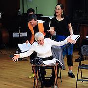 Brenda Bufalino (seated), Josh Hilberman and Gay Nardone