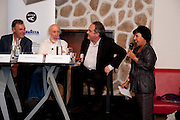 ADRIAN SEARLE; RICHARD HAMILTON; FERRAN ADRIA. The Launch of Food for thought, Thought for Food, The Creative Universe of El Bulli's Ferran Adria. Edited by Richard Hamilton and Vincente Todoli. The double Club, 7 Torrens st. London EC1. 22 June 2009