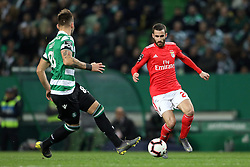 February 3, 2019 - Lisbon, PORTUGAL, Portugal - Rafa Silva of SL Benfica seen in action during the League NOS 2018/19 footballl match between Sporting CP vs SL Benfica. (Credit Image: © David Martins/SOPA Images via ZUMA Wire)