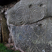 Kerbstone is at the rear of newgrange, and is one of the examples of neolithic art in Ireland - or anywhere!..
