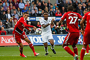 Leroy Fer of Swansea City during the Premier League match between Swansea City and Watford at the Liberty Stadium, Swansea, Wales on 23 September 2017. Photo by Andrew Lewis.