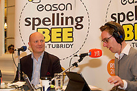 Declan Ganleybeing interview by Ryan Tubridy at the Eason Spelling Bee in the Hotel Meyrick, Galway from where Ryan Tubridy's  show was broadcast . Photo:Andrew Downes..