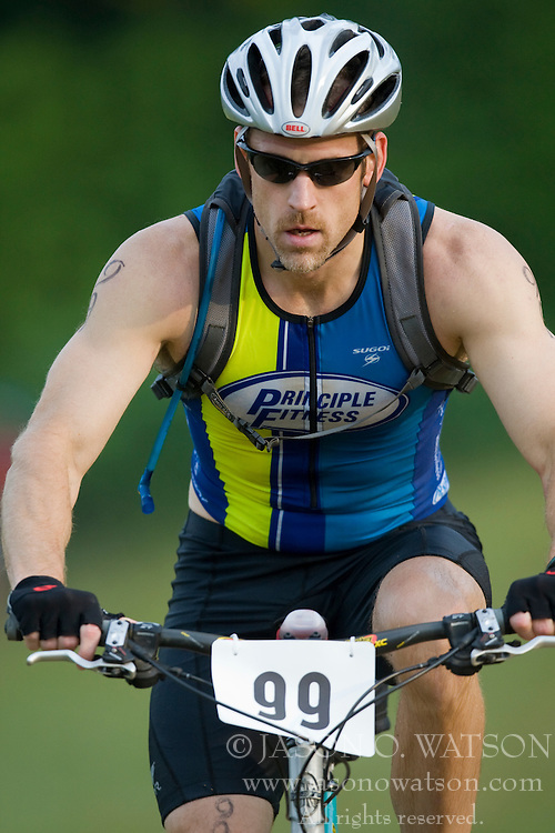 CHARLOTTESVILLE, VA - August 17, 2008 - CHAD MOLTER (99) in the 2008 Charlottesville XTERRA Triathlon was held at Walnut Creek Park in Albemarle County near Charlottesville, Virginia, USA.