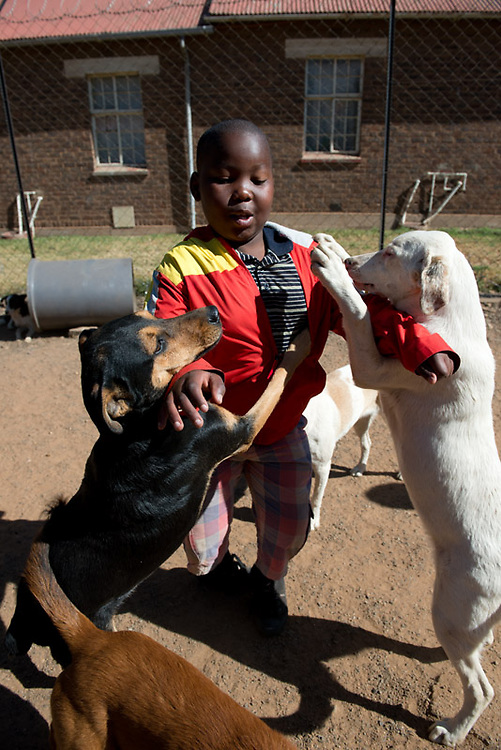 Children from a South African township participate in fun activities at CLAW (Community Led Animal Welfare) that teach them about caring for animals. For more information about CLAW, please see http://www.claw-sa.org/projects1.html
