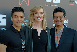Edinburgh International Film Festival, Thursday, 21st June 2018<br /> <br /> WHITE CHAMBER (UK PREMIERE )<br /> <br /> Pictured:  Paul Raschid (director), Shauna Macdonald and Neville Raschid (producer)<br /> <br /> (c) Alex Todd | Edinburgh Elite media