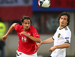 03.06.2011, Ernst Happel Stadion, Wien, AUT, UEFA EURO 2012, Qualifikation, Oesterreich (AUT) vs Deutschland (GER), im Bild Zweikampf zwischen Martin Harnik, (AUT, #19) und Mats Hummels, (GER, #5)  // during the UEFA Euro 2012 Qualifier Game, Austria vs Germany, at Ernst Happel Stadium, Vienna, 2010-06-03, EXPA Pictures © 2011, PhotoCredit: EXPA/ T. Haumer